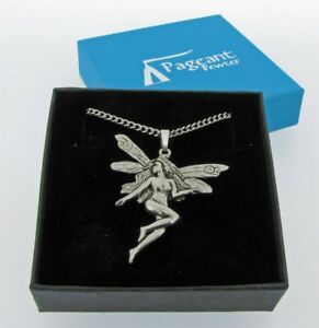 Fairy Silver Pewter Pendant On A Chain