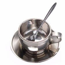 Bar Classic Silver Milk Coffee Cup Drinkware Coffee Cup Sets Mugs Spoon Tray