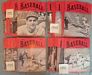 Baseball Magazine War Years 1942-1945  43 issue lot
