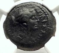 BERENIKE II Egypt Queen PTOLEMY III wife Kyrene Ancient Greek Coin NGC i76863