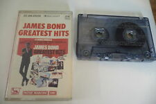 JAMES BOND GREATEST HITS K7 AUDIO TAPE OST BOITIER FENDU.JOHN BARRY