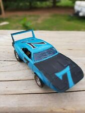 Vintage Afx Daytona Charger superbird blue #7 repaired Spoiler. Track Tested