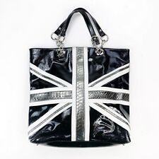 "New listing Twiggy London Large Oversized Tote Bag Purse  British Flag Black 19""X17""X3"""