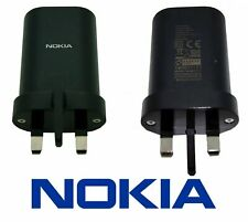 Genuine NOKIA UK Universal USB Plug Power Adapter Travel Charger AD-18WX Black