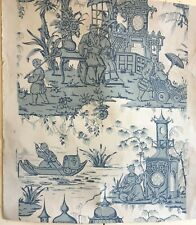 Charming 19th C.  French Zuber Chinese Wallpaper   (8927)