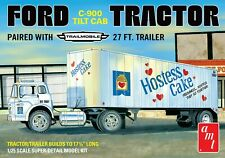 AMT 1221 1/25 Ford C-900 Tractor With Trailer Plastic Model Kit