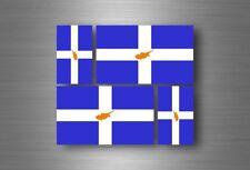 4x adesivi adesivo sticker bandiera vinyl tuning cipro grecia cipriota
