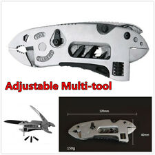 Car Multi-Tool Adjustable Wrench Jaw Screwdriver Pliers Knife Survival Gear Set