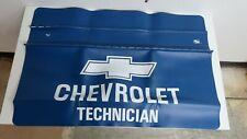 Nos Rare Blue Attex Chevrolet Technician Mechanic Fender Cover Made In Usa