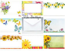 40ct Cute Flowers 8 Styles! Florist Blank Enclosure Cards w/ Small Envelopes Set