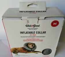 Well & Good Inflatable Collar for Dogs M Medium, Neck Size 15-20 Inches New