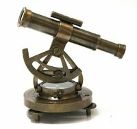 Antique Alidade Compass With Telescope Brass Finish (6 Inch)