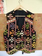Vintage American laine gilet Navajo Aztèque Ethnique Motif par Matt CAMRON-XL