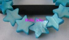 2 strands Blue Shell Star loose beads 12mm M864