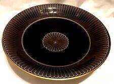 ROSENTHAL CHINA COBALT BLUE GOLD FOOTED SERVING /FRUIT BOWL 6773