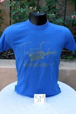 MUTUAL Broadcasting 50th Year Vintage Graphic T-Shirt, Blue, Unisex Size S
