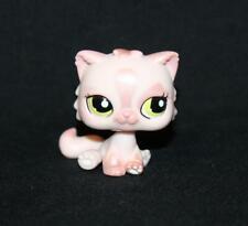 Littlest Pet Shop Pink Shimmer Persian Cat #1083 Green Eyes Patch Kitty (C01)