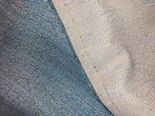 """3 1/2 yds long x 50"""" wide Chenille Turquoise Multicolor Upholstery Fabric New"""