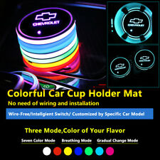 2pcs Colorful LED Coaster Atmosphere Car Light Bulbs For Chevrolet Neon Lights