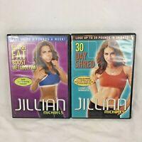 Jillian Michaels Workout Fitness DVD Banish Fat Boost Meta 30 Day Shred Lot of 2