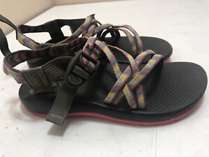 Chaco Size 5 Junior Girls 'ZX/1' Ecotread Fletched Pink Water Sport Sandals