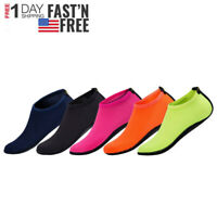 Men Women Aqua Water Shoes Swim Surf Yoga Sports Beach Exercise Skin Socks NEW