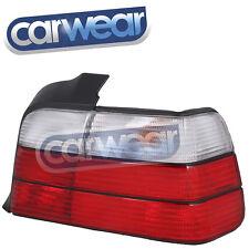 BMW E36 4DR SEDAN OEM STYLE CLEAR RED TAIL LIGHTS 318i 320i 323i 325