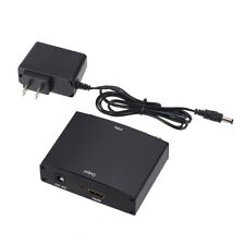 Component Video & L/R RCA Stereo Audio to HDMI Converter Adapter DVD PS3 Xbox