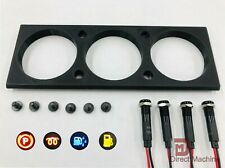 NEW 81-93 Dodge Ram (3) Hole Gauge Pod + (4) Indicator Lights