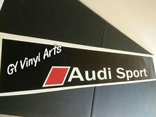 AUDI SPORT Decal Windshield Banner Sun Strip Sun Visor Sticker
