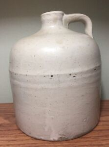 """VTG Ceramic Hand Thrown Container Pottery Moonshine Whiskey Jug  Primitive 7.5"""""""