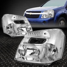 FOR 2005-2009 CHEVY EQUINOX PAIR CHROME HOUSING CLEAR CORNER HEADLIGHT/LAMP SET
