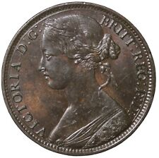 1861 Great Britain One Penny No LCW No Signature Queen Victoria Penny KM#794.2