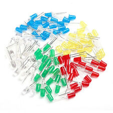 5 Colors 100 pcs F5 5mm Red Yellow Green Blue White Light LED Diode 1 Pack