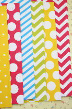 Bright Patterns Mix Card Stock 250gsm Dots Chevron Stripes journaling cardstock