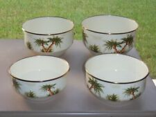 New Listing4 Pc Tabletop Unlimited Enamelware Metal Palm Trees Nesting Mixing Serving Bowls