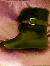 Alexander McQueen black shearling sheep skin leather ankle boots EU size 36