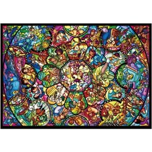 Tenyo Puzzle Disney All Star Stained Glass Puzzle 1,000 pieces