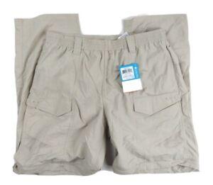 NWT Columbia PFG Aruba IV Tan Convertible UPF 50 Nylon Pants Men's Sz M 30L