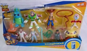 Toy Story 4 Fisher Price Imaginext Deluxe Figure Pack Woody Buzz Bo Peep *New*