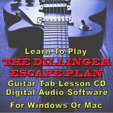 DILLINGER ESCAPE PLAN Guitar Tab Lesson  CD Software - 24 Songs