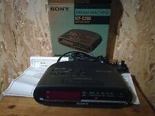 Sony ICF-C290 Dream Machine FM/AM Clock Radio - New old stock, UK plug