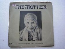 THE MOTHER SRI AUROBINDO 1978 RARE LP RECORD india HYMNS SONGS READINGS vg+