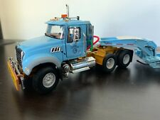 First Gear Mack Granite MP With Tri-Axle Lowboy City of Chicago 1:50 Scale