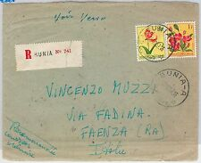 Belgian Congo  Congo Belge -  POSTAL HISTORY - COVER to ITALY 1957 - FLOWERS