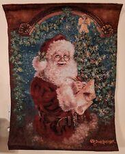 Jungles Santa Claus Fibre optic Lit Tapestry
