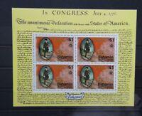 Bahamas 1976 Bicentenary of American Revolution Miniature Sheet MNH