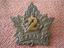 WW1 CEF 2nd Battalion (Eastern Ontario Regiment) Interim Cap Badge by Scully