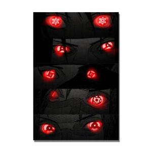 Naruto Itachi Sharingan Uchiha Poster Red Eyes Painting HD Print 24x36 inch