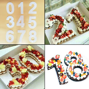 0-9 Number Pastry Cake Mold Cake Birthday Plastic Mould Baking DIY Accessory9PCS